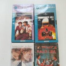 Cine: LOTE 4 VHS NUEVOS. TITANIC, EL GOLPE, LA TÚNICA SAGRADA, FAHRENHEIT 451. Lote 214374356