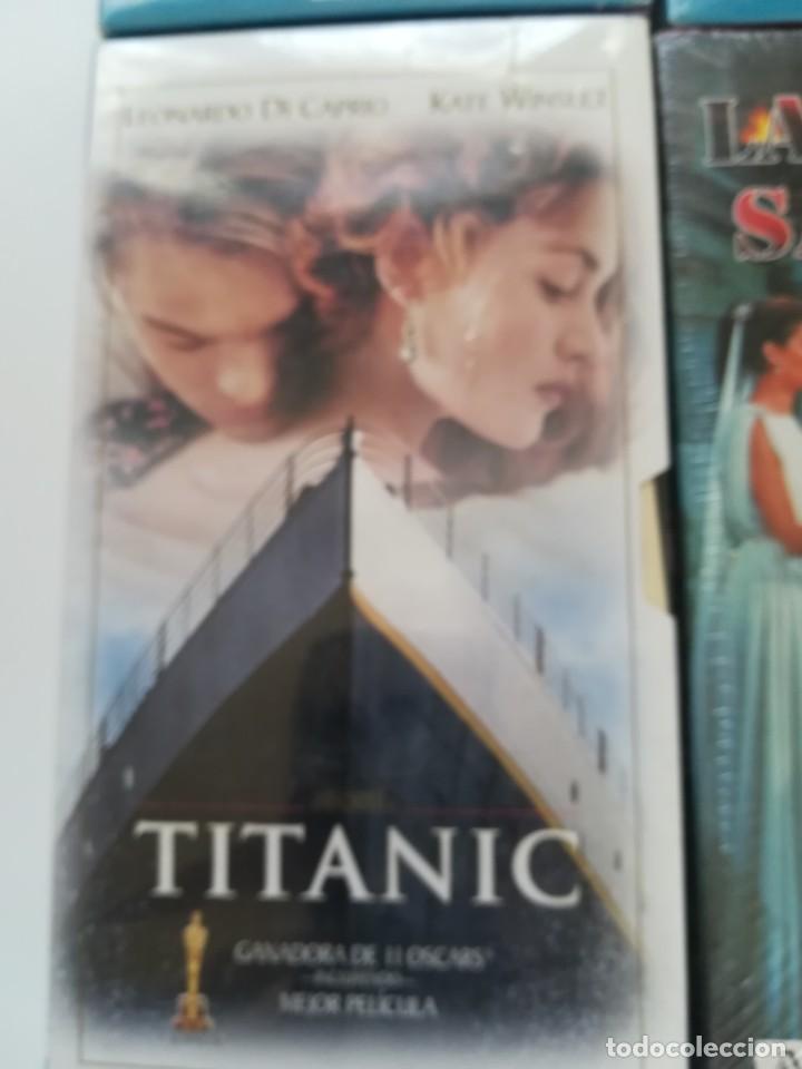 Cine: Lote 4 VHS nuevos. Titanic, el golpe, la túnica sagrada, Fahrenheit 451 - Foto 2 - 214374356