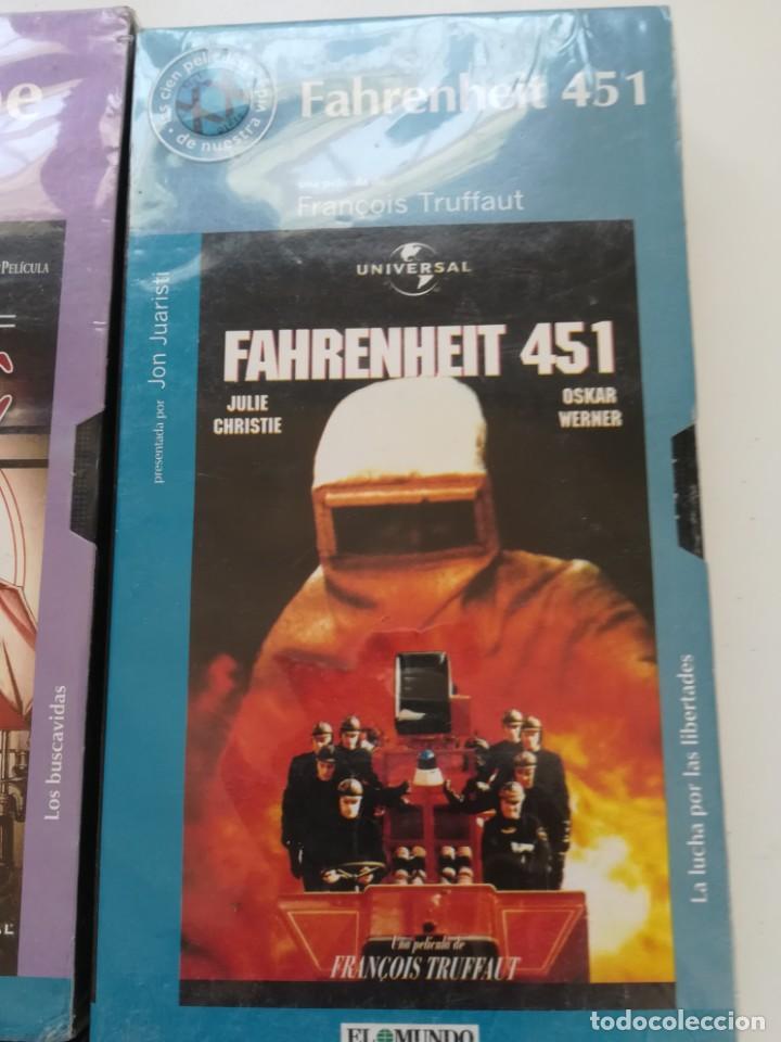 Cine: Lote 4 VHS nuevos. Titanic, el golpe, la túnica sagrada, Fahrenheit 451 - Foto 4 - 214374356