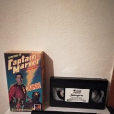 Cine: PACK VHS 2 CINTAS ORIGINAL - ADVENTURES OF CAPTAIN MARVEL - 12 EPISODIOS REPUBLIC PICTURES. Lote 214521548