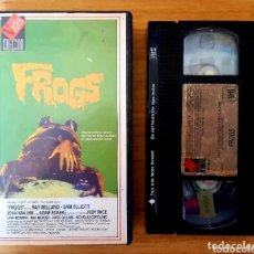 Cine: VHS - FROGS - PLAGA ASESINA SAPOS RANAS RAY MILLAND. Lote 103591383