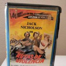 Cine: VHS RUTAS DE VIOLENCIA. Lote 217329205