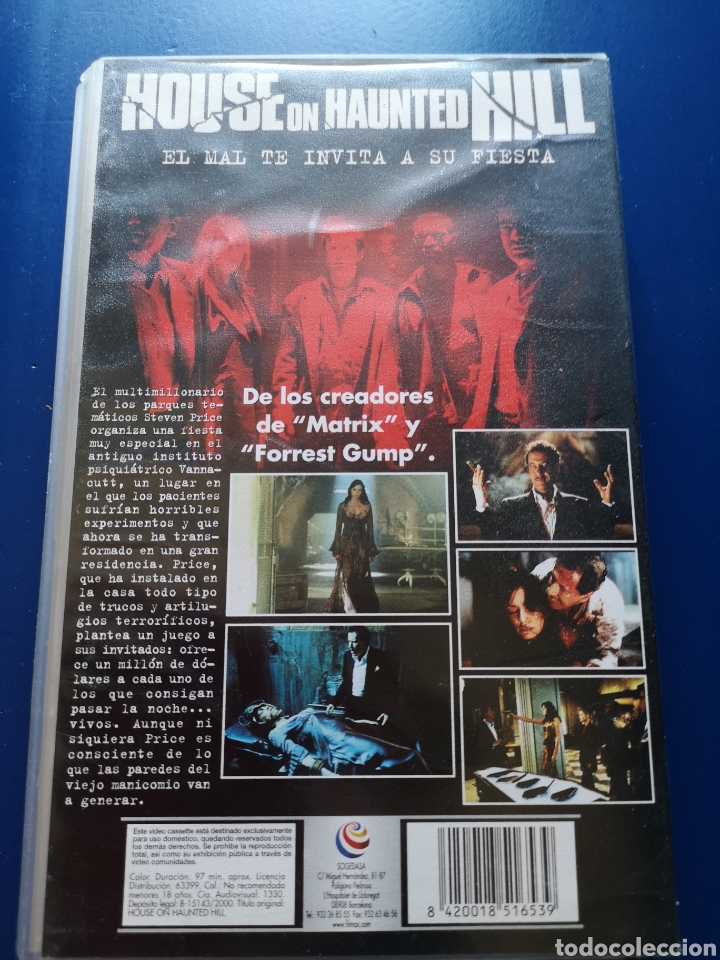 Cine: Película VHS House On Haunted Hill - Foto 2 - 217606020