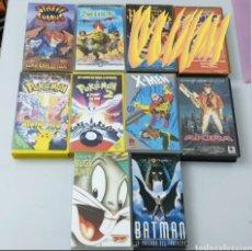Cine: LOTE 8 VHS DIBUJOS ANIMADOS VARIADOS (AKIRA, BUGS BUNNY, SHREK, POKEMON, X-MEN...). Lote 210982694