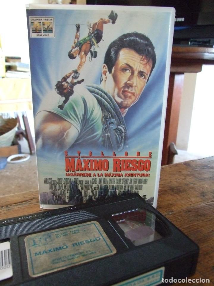 MAXIMO RIESGO CLIFFHANGER - RENNY HARLIN - SYLVESTER STALLONE , MICHAEL ROOKER - COLUMBIA (Cine - Películas - VHS)