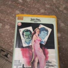 Cine: VHS EL TAHUR AÑO 1982.. IZARO FILMS VIDEO AMPARO MUÑOZ, VICENTE FDEZ,JORGE RIVERO, ALFREDO MAYO, ETC. Lote 217917747