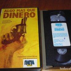 Cine: ALGO MAS QUE DINERO - CAMERON MITCHEL , JOHN WATERS - VHS. Lote 219538913
