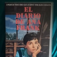 Cine: VHS PELÍCULA 1959. EL DIARIO DE ANA FRANK. GEORGE STEVENS. MILLIE PERKINS, RICHARD BEYMER,. Lote 219837240