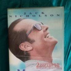 Cine: VHS PELÍCULA 1997. MEJOR IMPOSIBLE. JAMES L. BROOKS,. JACK NICHOLSON, HELEN HUNT. Lote 219909545