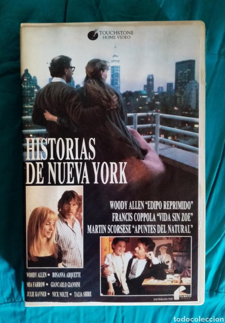 Cine: VHS Antigua película 1989. Historias de Nueva York. Martin Scorsese, Francis F. Coppola, Woodie Alle - Foto 2 - 219917048