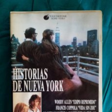Cine: VHS ANTIGUA PELÍCULA 1989. HISTORIAS DE NUEVA YORK. MARTIN SCORSESE, FRANCIS F. COPPOLA, WOODIE ALLE. Lote 219917048