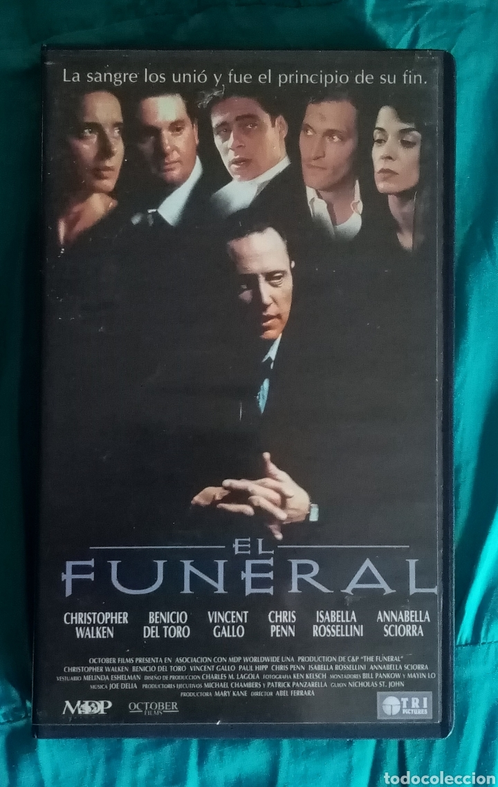 Cine: VHS Película 1996. El Funeral. Abel Ferrera. Christopher Walken, Chris Penn - Foto 2 - 219975895