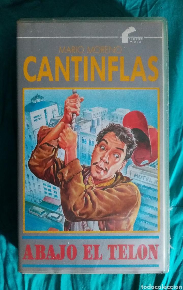 Cine: VHS Película 1955. Cantinflas. Abajo el Telón. Miguel M. Delgado. Cantinflas, Christiane Martel, - Foto 2 - 219978423