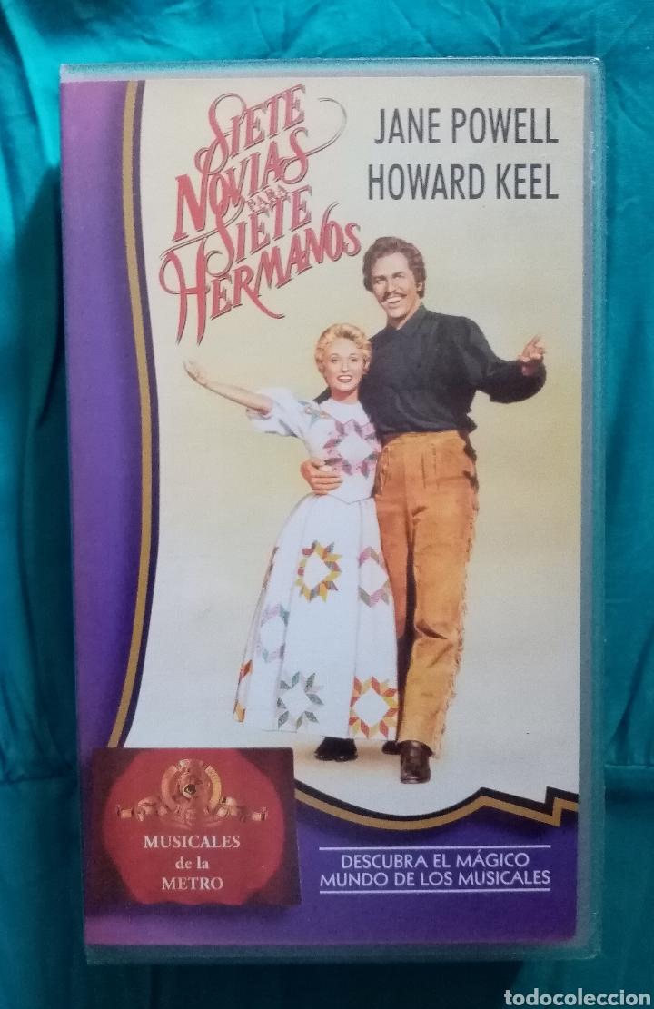 Cine: VHS Película 1954. Siete Novias para siete hermanos. Stanley Donen. Howard Keel, Jane Powell,.. - Foto 2 - 219984722