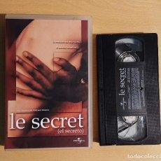 Cinéma: LE SECRET · PELÍCULA VHS · DE VIRGINE WAGON. Lote 220059870