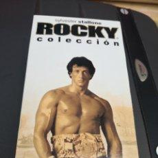 Cine: VHS , PACK ROCKY COLECCION , EDICION ESPECIAL 25 ANIVERSARIO ( 5 PELICULAS EN 3 VHS. Lote 220675787