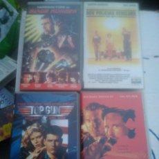 Cine: 4 VHS. TOP GUN, LOS DEMONIOS DE LA NOCHE, BLADE RUNNER Y 2 POLICÍAS REBELDES. Lote 220690776