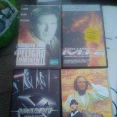 Cine: 4 VHS.. PELIGRO INMINENTE, X-MEN, JANE EYRE Y MISIÓN IMPOSIBLE 2. Lote 220691528
