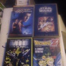 Cine: 4 VHS.. STAR WARS, OO7, DRAGON BALL, MEN IN BLACK. Lote 220692540