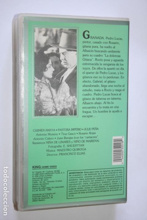 Cine: MARIA DE LA O (Carmen Amaya, Pastora Imperio, Julio Peña, Antonio Moreno) * VHS CINE CLÁSICO ESPAÑOL - Foto 2 - 221268792