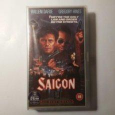 Cine: SAIGON WILLEM DAFOE GREGORY HINES 1987 20TH CENTURY FOX CINTA DE VÍDEO VHS EN INGLÉS. Lote 221476407