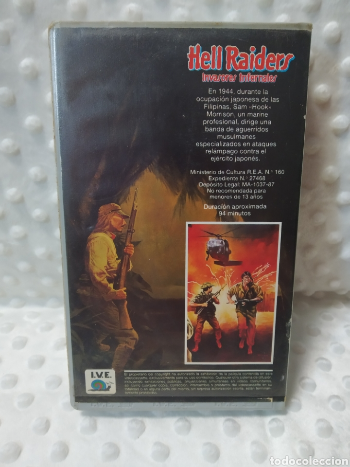 Cine: HELL RAIDERS INVASORES INFERNALES - FERDE GROFE - ROGER KERN , FRANCO GUERRERO - IVE 1987 - VHS - Foto 3 - 221512305