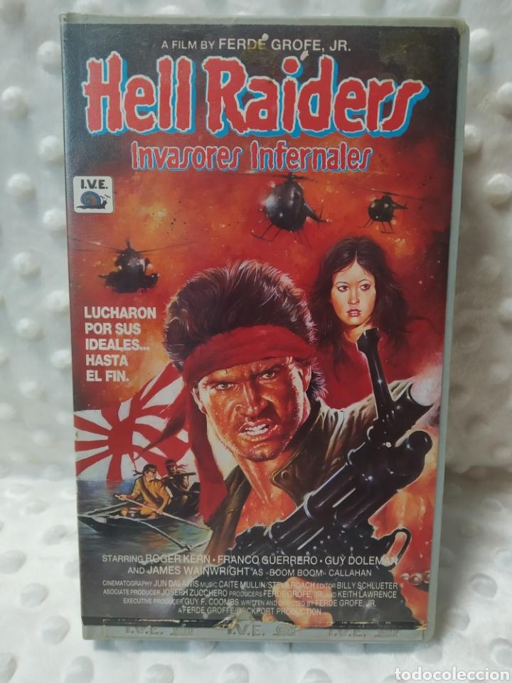 HELL RAIDERS INVASORES INFERNALES - FERDE GROFE - ROGER KERN , FRANCO GUERRERO - IVE 1987 - VHS (Cine - Películas - VHS)