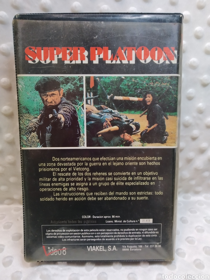 Cine: SUPER PLATOON - CHRIST HANNAH - VHS - Foto 3 - 221513921