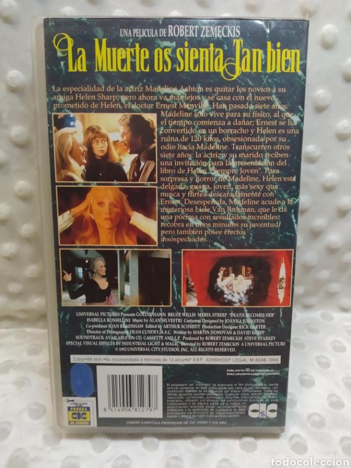 Cine: LA MUERTE OS SIENTA TAN BIEN - MERYL STREEP, BRUCE WILLIS, GOLDIE HAWN - VHS - Foto 3 - 221514383