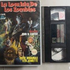 Cine: VHS LA LOCA ISLA DE LOS ZOMBIES (1° EDICIÓN). Lote 221582793