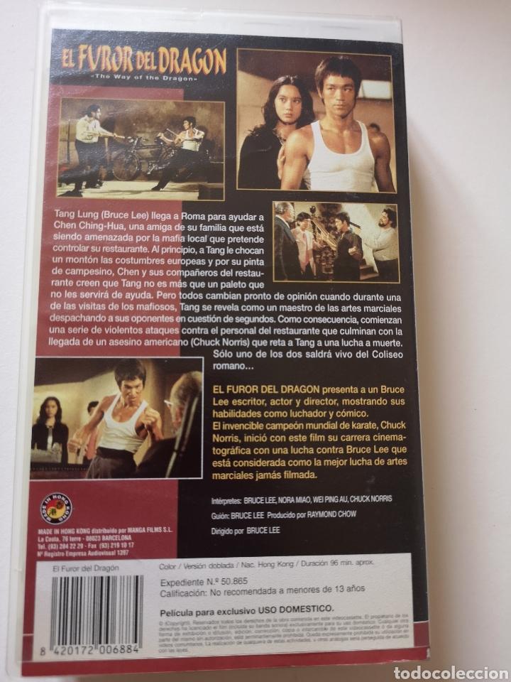 Cine: El Furor Del Dragón Bruce Lee VHS - Foto 2 - 221662016