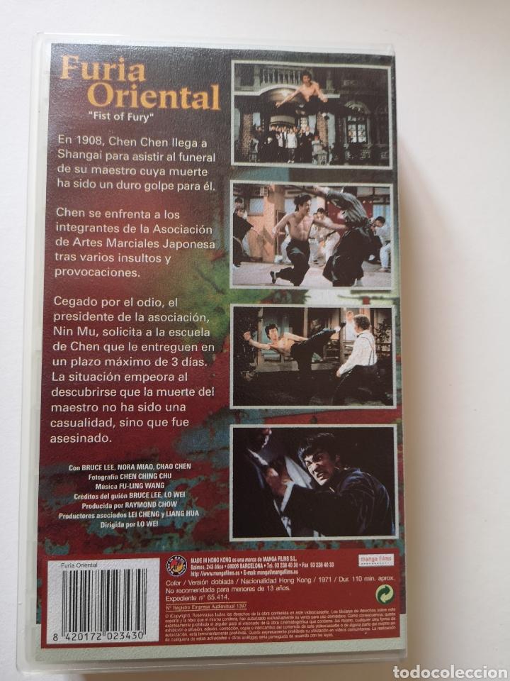 Cine: Fúria Oriental Bruce Lee VHS - Foto 2 - 221662478