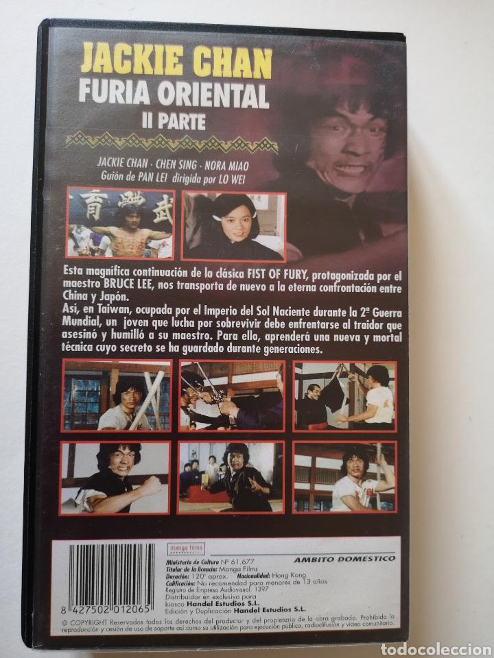 Cine: Fúria Oriental 2 Parte Jackie Chan VHS - Foto 2 - 221664093