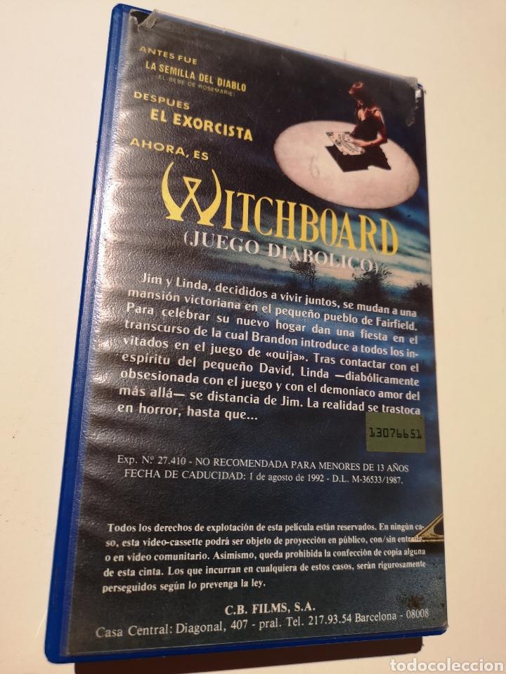 Cine: Witchboard (Juego Diabólico) Cine de Terror VHS - Foto 2 - 221726473