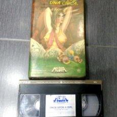 Cine: VHS. RAREZA ANIMACIÓN PORNO. ÉRASE UNA VEZ UNA CHICA. ONCE UPON A GIRL. VIDEO DISCO. Lote 221763592