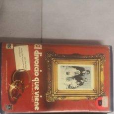 Cine: VHS EL DIVORCIO QUE VIENE (1° EDICIÓN, RARE). Lote 221795381