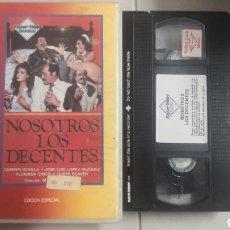 Cine: VHS NOSOTROS LOS DECENTES (1°EDICION). Lote 221796515