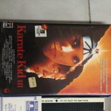 Cine: VHS KARATE KID 3 (1° EDICIÓN + CERTIFICADO). Lote 221799196