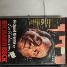 Cine: VHS LA VIOLACIÓN DE RICHARD BECK (1° EDICIÓN). Lote 221804321