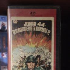 Cine: JUNIO 44 DESEMBARCAREMOS EN NORMANDIA VHS. Lote 221863067