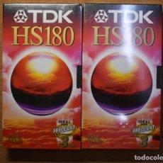 Cine: 2 CINTAS DE VIDEO VHS.MARCA TDK.3 HORAS DE DURACION CADA UNA.NUEVAS PRECINTADAS. Lote 221958840