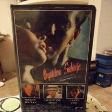 Cine: ORQUIDEA SALVAJE - ZALMAN KING - MICKEY ROURKE , JACQUELINE BISSET - RECORD VISION 1990. Lote 221969747