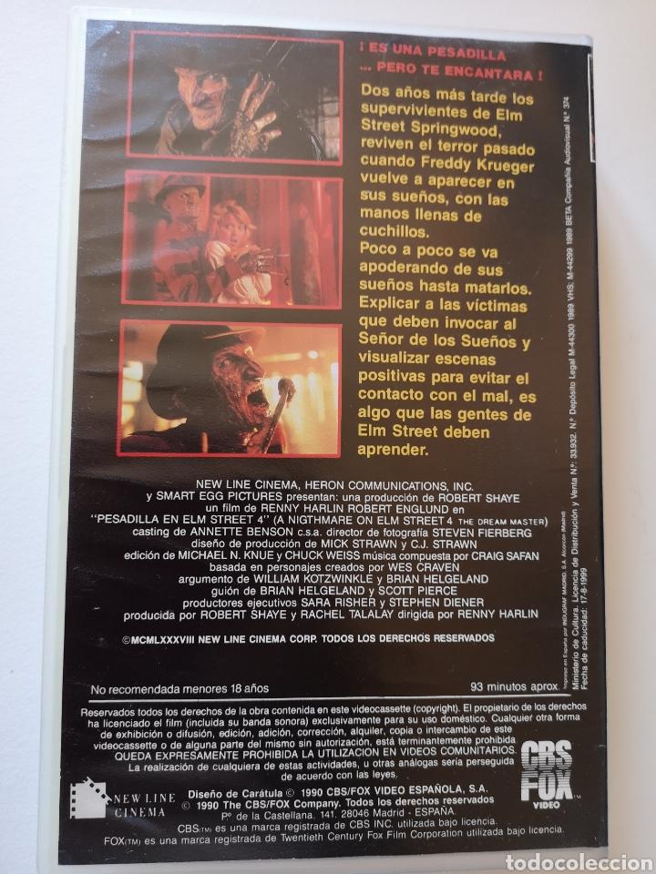 Cine: Pesadilla En Elm Street 4 (Primera Edición) VHS - Foto 3 - 222117662