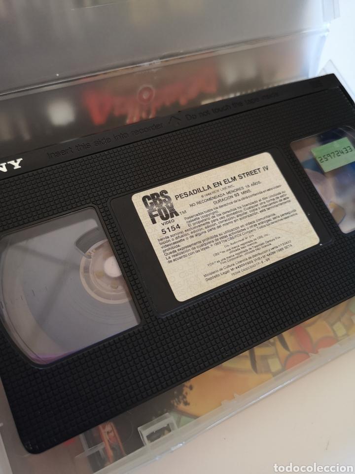 Cine: Pesadilla En Elm Street 4 (Primera Edición) VHS - Foto 4 - 222117662