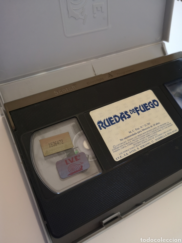 Cine: Ruedas De Fuego VHS - Foto 3 - 222122202