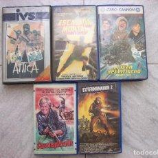 Cine: LOTE 5 TITULOS VHS ATTICA ESCALADA MORTAL. Lote 222123585