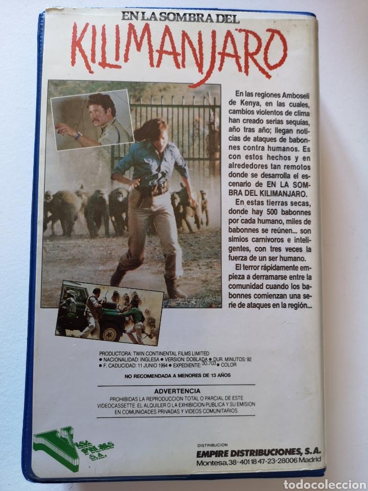 Cine: En La Sombra Del Klimanjaro VHS - Foto 3 - 222124035