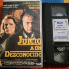 Cine: VHS- JUICIO A UN DESCONOCIDO- PETER FONDA ÚNICO EN TC- IZARO FILMS. Lote 222124801