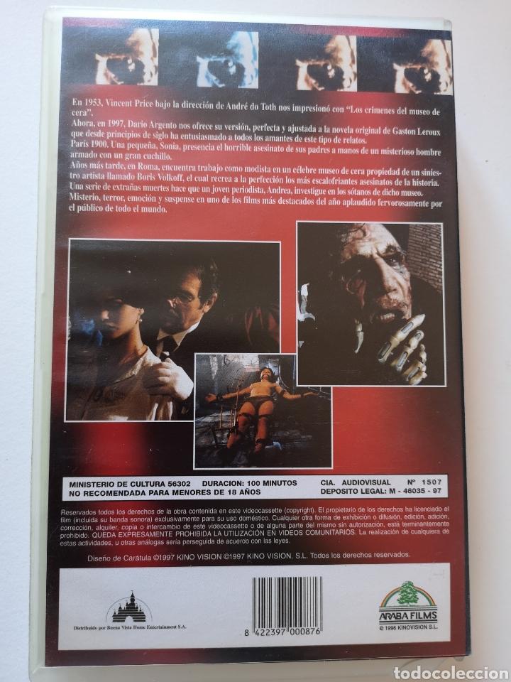 Cine: La Máscara De Cera Cine de Terror VHS - Foto 2 - 222125353