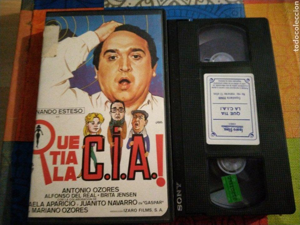 VHS- QUE TÍA LA CIA- FERNANDO ESTESO ANTONIO OZORES (Cine - Películas - VHS)